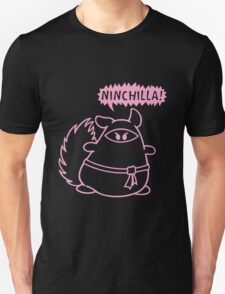 The Ninja Chinchilla - Pink Unisex T-Shirt