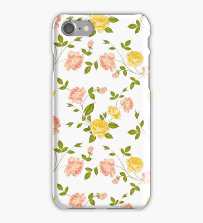 Roses, floral background, seamless pattern. iPhone Case/Skin