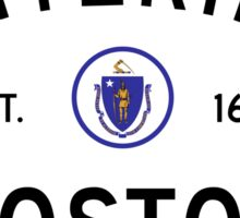 Entering Boston - Commonwealth of Massachusetts Road Sign Sticker