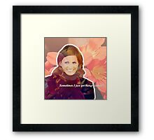 STANA KATIC, QUOTE #2 Framed Print