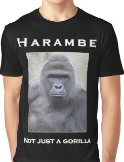 Harambe Oil Painting: Not Just a Gorilla Graphic T-Shirt