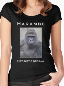 Harambe Oil Painting: Not Just a Gorilla Women's Fitted Scoop T-Shirt