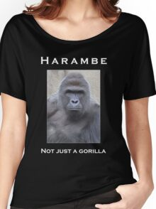Harambe Oil Painting: Not Just a Gorilla Women's Relaxed Fit T-Shirt