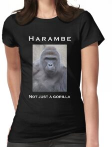 Harambe Oil Painting: Not Just a Gorilla Womens Fitted T-Shirt