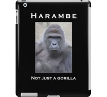 Harambe Oil Painting: Not Just a Gorilla iPad Case/Skin