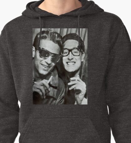 Buddy Holly and Waylon Jennings Pullover Hoodie