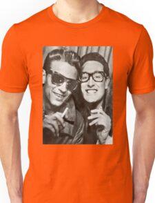 Buddy Holly and Waylon Jennings Unisex T-Shirt