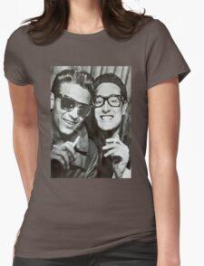 Buddy Holly and Waylon Jennings Womens Fitted T-Shirt