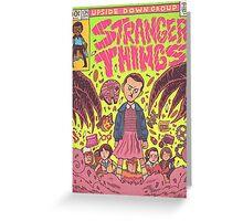 Stranger Things Comic (not original work) Greeting Card