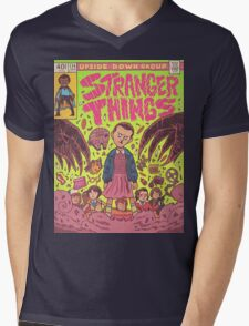 Stranger Things Comic (not original work) Mens V-Neck T-Shirt