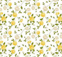 Roses, floral background, seamless pattern by Kotkoa