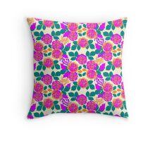 Carnation Garden Throw Pillow