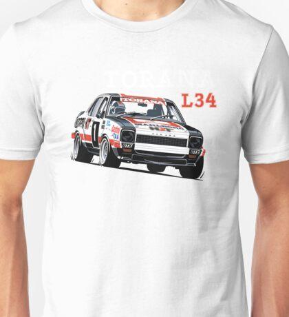 Holden Torana L34 Bathurst, Bond Roberts Unisex T-Shirt