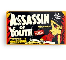 Assassin of Youth - marijuana shirt Metal Print