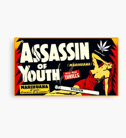 Assassin of Youth - marijuana shirt Canvas Print