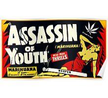Assassin of Youth - marijuana shirt Poster