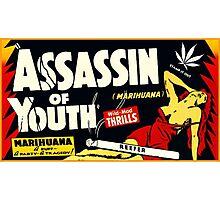 Assassin of Youth - marijuana shirt Photographic Print