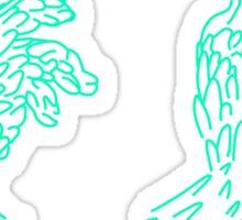Teal Hand Sticker