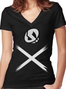 Team Skull (Alola Region) Design Women's Fitted V-Neck T-Shirt