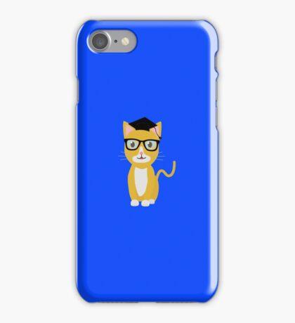 nerd geek cat iPhone Case/Skin