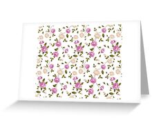 Seamless texture of pastel roses for textiles Greeting Card