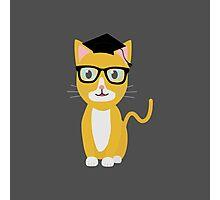 nerd geek cat Photographic Print