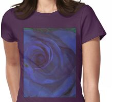 Big Blue Rose Womens Fitted T-Shirt