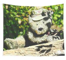 Messenger of Love bear Wall Tapestry