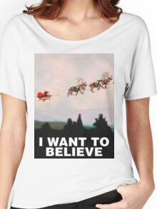I Want to Believe, X-Files spoof Women's Relaxed Fit T-Shirt