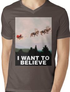 I Want to Believe, X-Files spoof Mens V-Neck T-Shirt