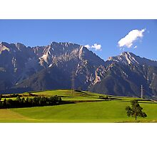 Calm and quiet in Alps Photographic Print