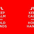 Keep Calm and Hold Hands (Otters holding hands) by jezkemp