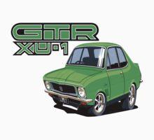 Holden LJ XU1 GTR Limey, Dinger car toon by UncleHenry