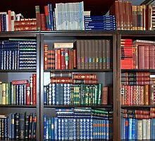 Bookcase full of Dutch reference works by Arie Koene