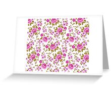Luxurious color peony seamless pattern Greeting Card