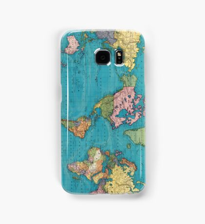 Vintage Map of The World (1897) Samsung Galaxy Case/Skin