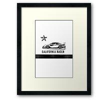 California Racer - Black Porsche Framed Print