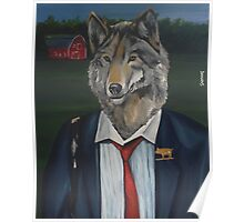 'Business time' painting by Damian Smith Poster