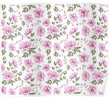 Floral tile pattern for vintage design Poster
