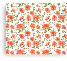 Design of vintage floral pattern. Canvas Print