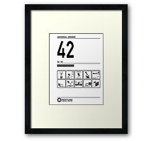 42 Universal Answer Portal Testing Chamber Framed Print