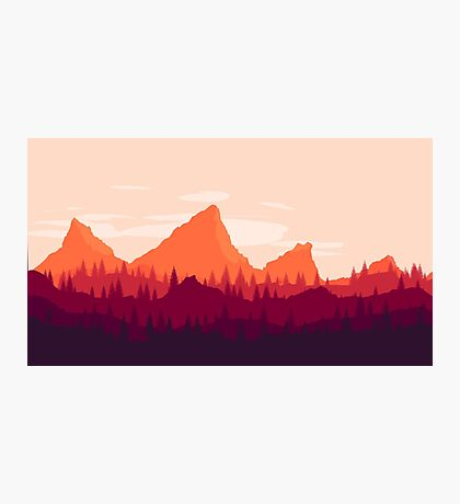 Fall Mountains Photographic Print