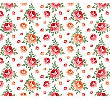 Roses, floral background, seamless pattern Photographic Print