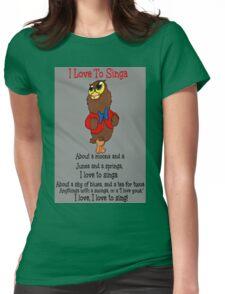 Owl Jolson  I love to Singa! Womens Fitted T-Shirt