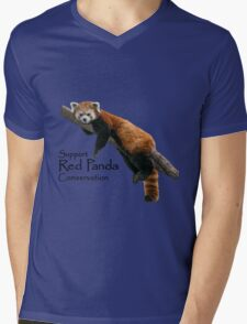 2016 Red Panda Day Mens V-Neck T-Shirt