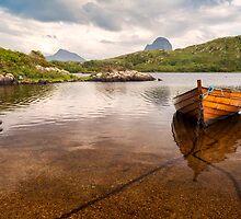 Canisp and Suilven From Loch Druim Suardalain by derekbeattie