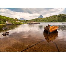 Canisp and Suilven From Loch Druim Suardalain Photographic Print