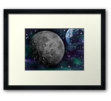 The Moon and Earth Framed Print