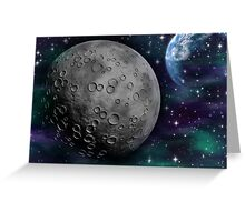 The Moon and Earth Greeting Card