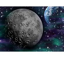 The Moon and Earth Photographic Print